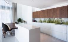 istanbul mutfak tezgah arası cam panel